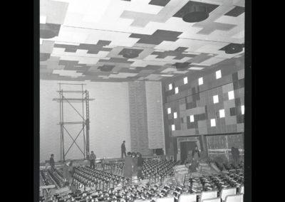 Gartenbaukino Innen, 1960, Baustelle